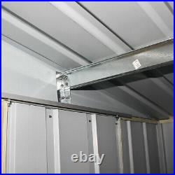 10X8 New Metal Garden Shed Outdoor Storage House Apex Roof WITH FREE FOUNDATION