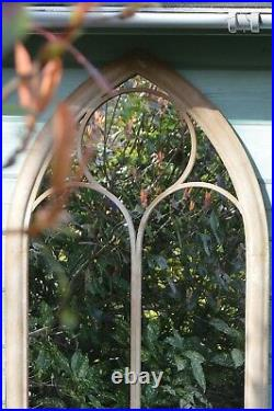 Extra Large Garden Wall Mirror Sand Arch Outdoor Vintage 3ft8 x 2ft 112 x 61cm