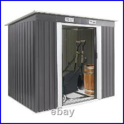 Garden Shed Storage Large Yard Store Door Metal Roof Building Tool Box Container