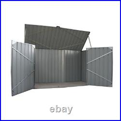 Large Galvanized Metal Steel Garden Shed Outdoor Bike Storage House Tools Shed