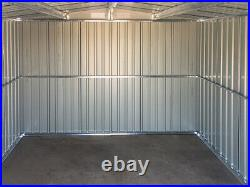Metal Shed 8 x 8 FT Deep Grey Apex Garden Shed Outdoor Storage Cabinet Toolsheds