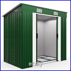 Metal Tool Shed 6x4ft Outdoor Garden Storage Galvanised Heavy Duty Container New