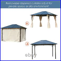 Outsunny 3x3.6m Garden Metal Gazebo Pavilion Party Tent Canopy Sun Shade Marquee