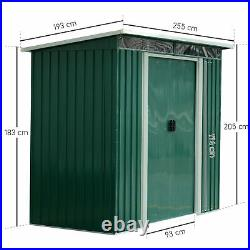 Outsunny 8x6FT Metal Garden Shed Outdoor Storage House Heavy Duty Tool Organizer