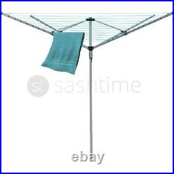 Rotary Airer 4 Arm Clothes Garden Washing Line Dryer 40m Folding Outdoor Dry