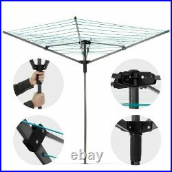 Rotary Airer 4 Arm Clothes Garden Washing Line Dryer 45M Folding Free Peg Bag UK